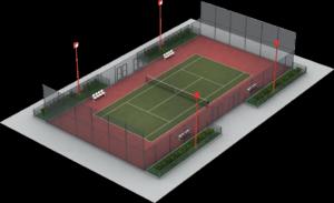 Освещение теннисных кортов